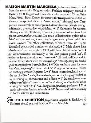 Maison Martin Margiela: 20 Years The Exhibition