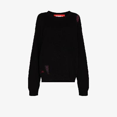 032c - Distressed Knit Sweater