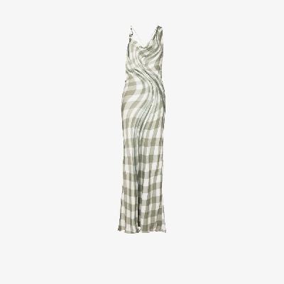 032c - 3-D Check Slip Dress