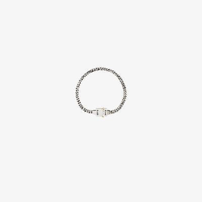 1017 ALYX 9SM - Silver Tone Cubix Buckle Necklace