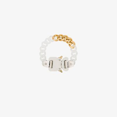1017 ALYX 9SM - Gold Tone And White Buckle Bracelet