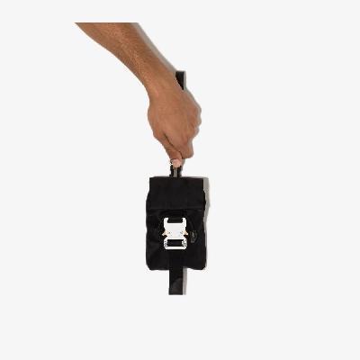 1017 ALYX 9SM - Black Tank Buckled Mini Messenger Bag