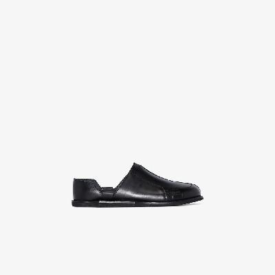 A-COLD-WALL* - Black Geometric Leather Loafers