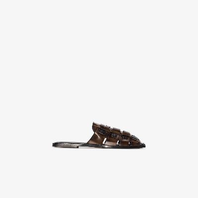 Acne Studios - Brown Buarache Leather Mules
