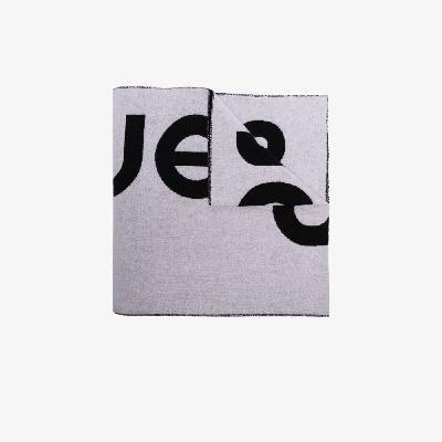 Acne Studios - Black And White Toronty Logo Scarf