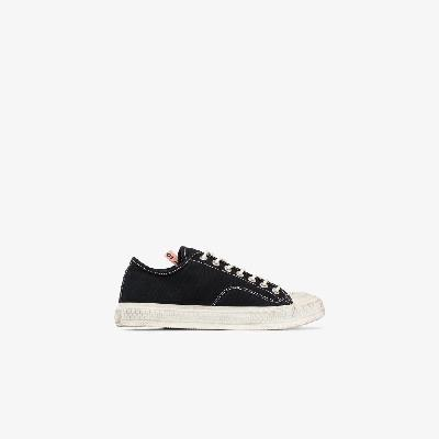 Acne Studios - Black And White Ballow Tumbled Canvas Sneakers