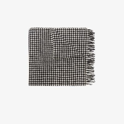Acne Studios - Black And White Ville Houndstooth Wool Scarf
