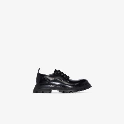 Alexander McQueen - Black Wander Chunky Leather Brogues