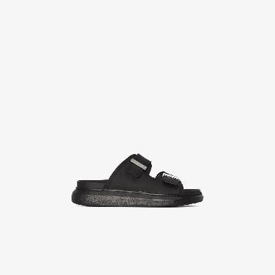 Alexander McQueen - Black Rubber Flatform Sandals