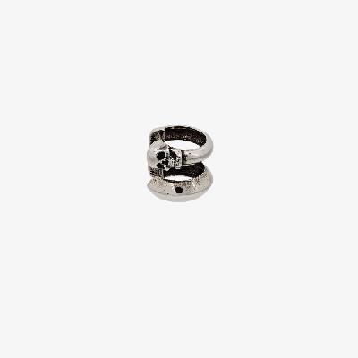 Alexander McQueen - Silver Tone Skull Motif Ear Cuff
