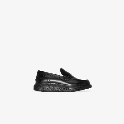 Alexander McQueen - Black Hybrid Platform Leather Loafers