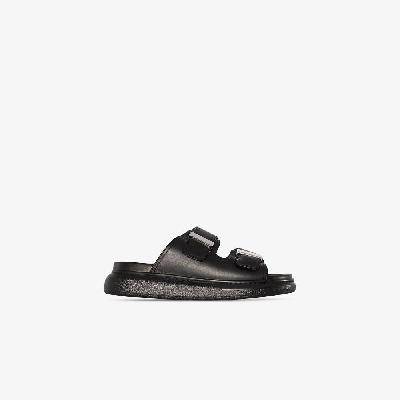 Alexander McQueen - Black Hybrid Leather Sandals