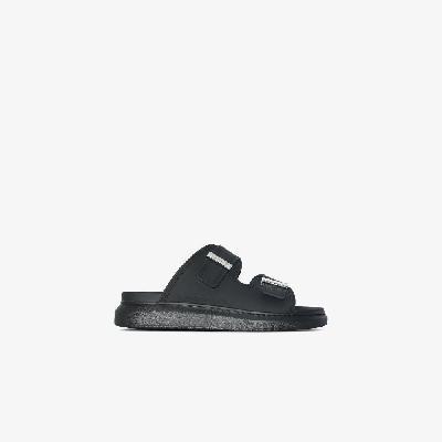 Alexander McQueen - Black Oversized Hybrid Sandals