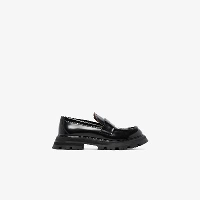 Alexander McQueen - Black Wander Chunky Leather Loafers