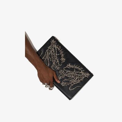 Alexander McQueen - Black Embellished Pouch Bag