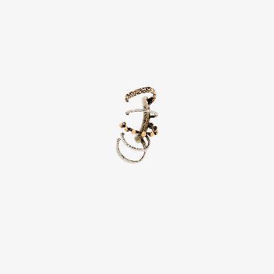 Alexander McQueen - Gold And Silver Tone Punk Ear Cuff