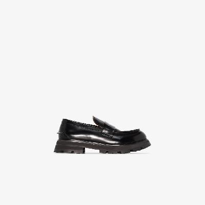 Alexander McQueen - Black Worker Leather Loafers