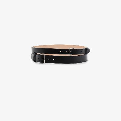 Alexander McQueen - Black Double Leather Belt