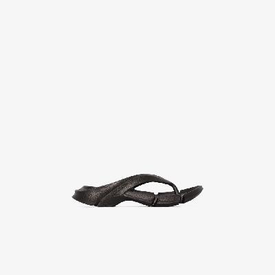 Balenciaga - Black Mold Rubber Sandals
