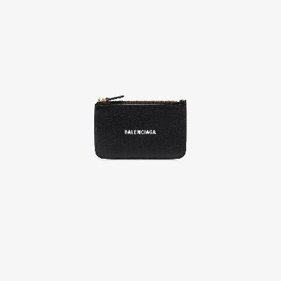 Balenciaga - Black Logo Leather Card Holder