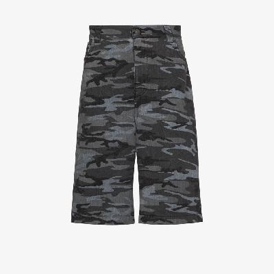 Balenciaga - Camouflage Print Wide Leg Shorts