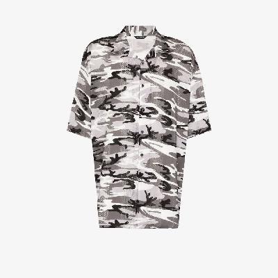 Balenciaga - Camouflage Print Short Sleeve Shirt