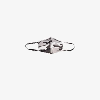 Balenciaga - Grey Camouflage Print Cotton Face Mask