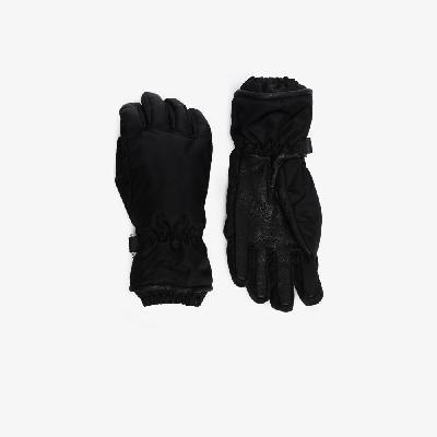 Bottega Veneta - Black Strap Leather Gloves