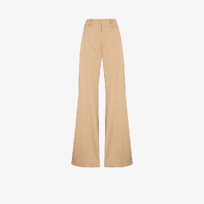 Chloé - High-Waisted Flared Trousers