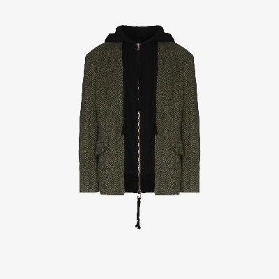 Greg Lauren - Hooded Tweed Blazer Jacket