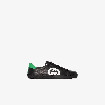Gucci - Black Ace Leather Sneakers