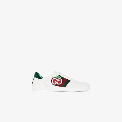 Gucci - White Ace GG Apple Leather Sneakers