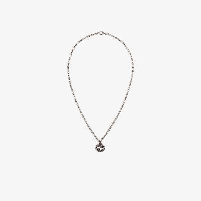 Gucci - Sterling Silver Interlocking G Pendant Necklace