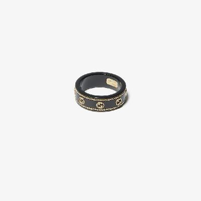 Gucci - 18K Yellow Gold Icon Logo Ring