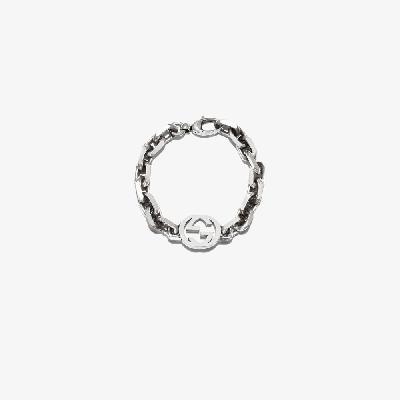 Gucci - Sterling Silver Interlocking G Chain Bracelet