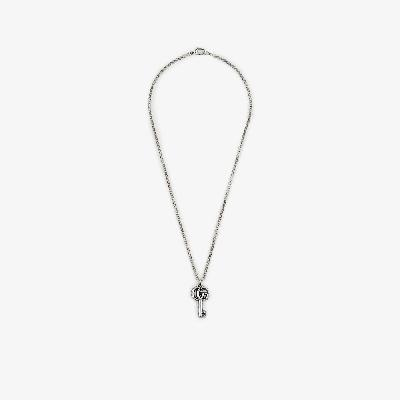 Gucci - Sterling Silver Double G Key Chain Necklace