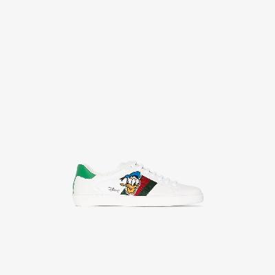 Gucci - X Disney White Ace Donald Duck Sneakers