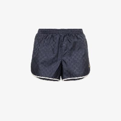 Gucci - Monogram Bee Embroidery Swim Shorts