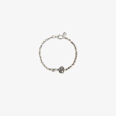 Gucci - Sterling Silver Double G Key Chain Bracelet