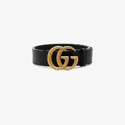 Gucci - Black Marmont GG Logo Leather Belt
