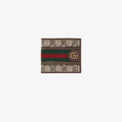 Gucci - Brown Ophidia Bifold Wallet