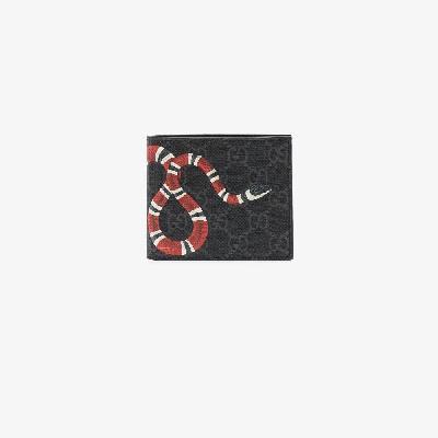 Gucci - Kingsnake Print GG Supreme Wallet