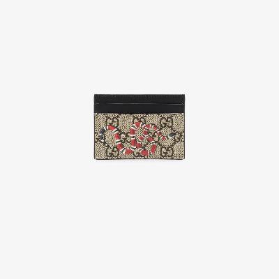 Gucci - Brown Kingsnake Print Leather Card Holder
