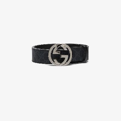 Gucci - Black GG Supreme Buckled Belt