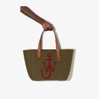 JW Anderson - Green Belt Felt Tote Bag