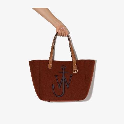 JW Anderson - Red Belt Logo Tote Bag