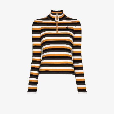 JW Anderson - Striped Zip Neck Sweater
