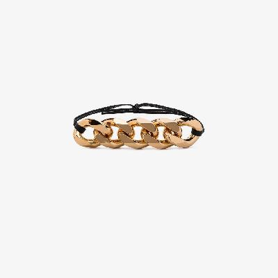 JW Anderson - Gold Tone Chain Leather Belt