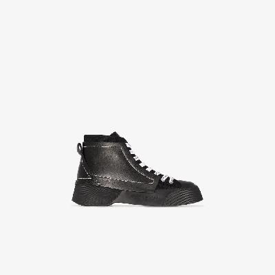 JW Anderson - Panelled High-Top Sneakers