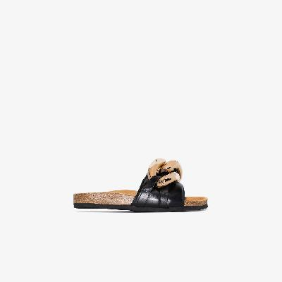 JW Anderson - Black Chain Leather Sandals